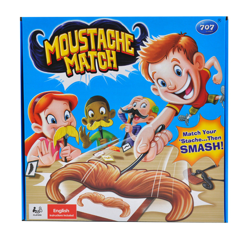 Moustache Puzzle Board Game for Family/Party/Friends Funny Strategy Game Best Gift for Children