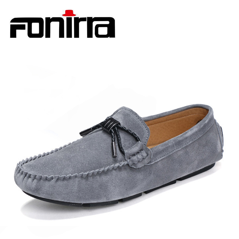 FONIRRA 2018 Summer Shoes Man Loafers Black Slip On Luxury Shoes For Men Fashion Solid Moccasins Men Driving Shoes 844