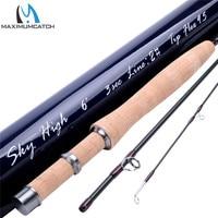 Maximumcatch IM12(40+46T) carbon skyhigh 6023 fly fishing rod with cordura tube 6ft 2wt 3pcs fly rod
