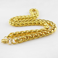 2014 Fashion Plated Gold Filled Body Chain 316 Stainless Steel Necklace For Men Women Jewelry Long