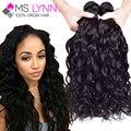 7A Brasileño de la Virgen Del Pelo 4 Bundles Onda Natural MS Lynn Productos de pelo de la Armadura Brasileña Del Pelo Lía Sin Mezcla Baratos Humanos pelo