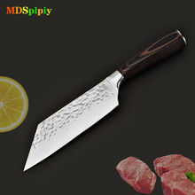 Кухонный нож для приготовления пищи 7,5 дюймов Профессиональные Кухонные ножи из углеродистой нержавеющей стали кухонные принадлежности для овощей нож Santoku нож s