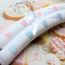 Free shipping 10 Styles,Top Quality Cute Hand Made Embroider Cotton Padded Clothes Hanger for Children (10 Pieces/ Lot)