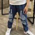 New Boys Jeans Loose  Ripped Jeans For Kids Unisex   Girls Jeans Pants  Jeans 6J016