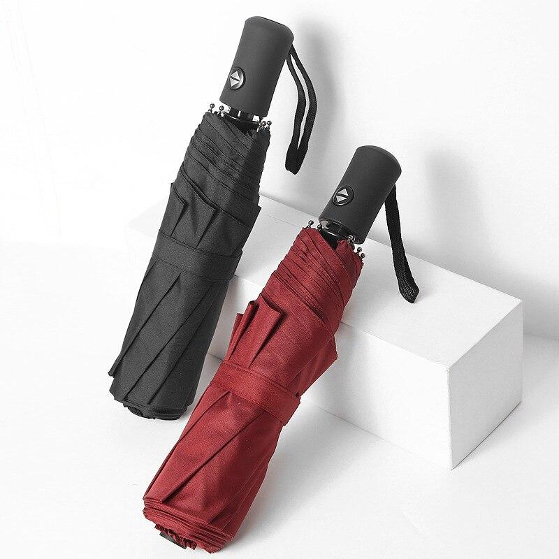 Wie Regen Voll-automatische Regenschirm Weibliche Winddicht 8 Rippen Starke Regen Regenschirme Frauen Männer Business Regnerischen Sunny Regenschirm Uby03