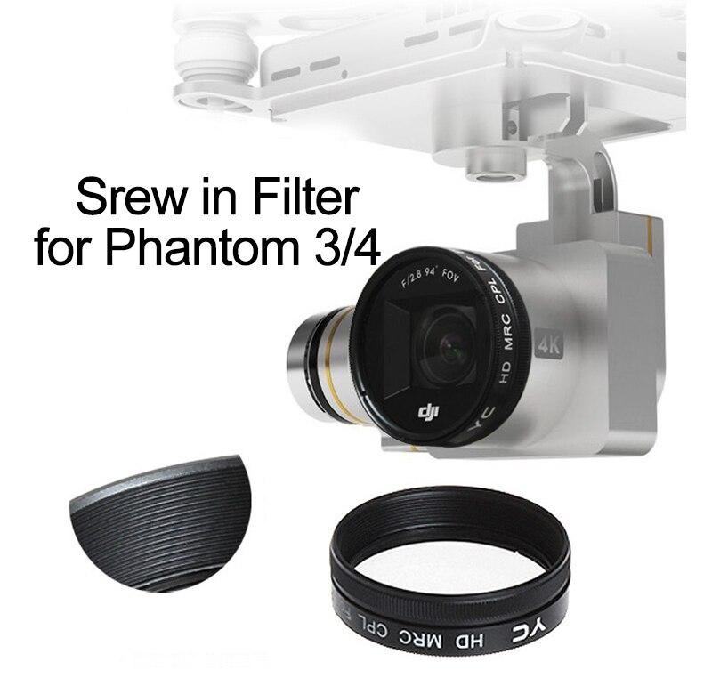 DJI Phantom 3 Objektiv Filter UV CPL ND2-400 ND8 ND16 Objektiv Filter für Adv Pro Phantom 4 3A 3 P drone Kamera Neutral Dichte Filter