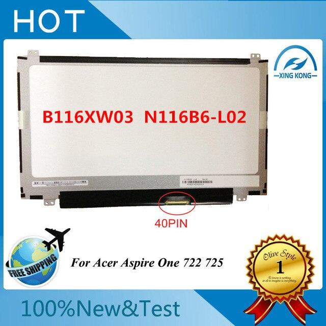 11.6 DELGADO LED nueva marca N116BGE-L41 B116XW03 N116B6-L04 LTN116AT02 LP116WH2 TL C1 N116B6-L02 B116XW01 V.0 40PIN