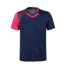 Рубашка для бадминтона с бесплатной печатью для мужчин/женщин, Спортивная футболка для бадминтона, футболки для настольного тенниса, одежда для тенниса, сухая крутая рубашка 5062
