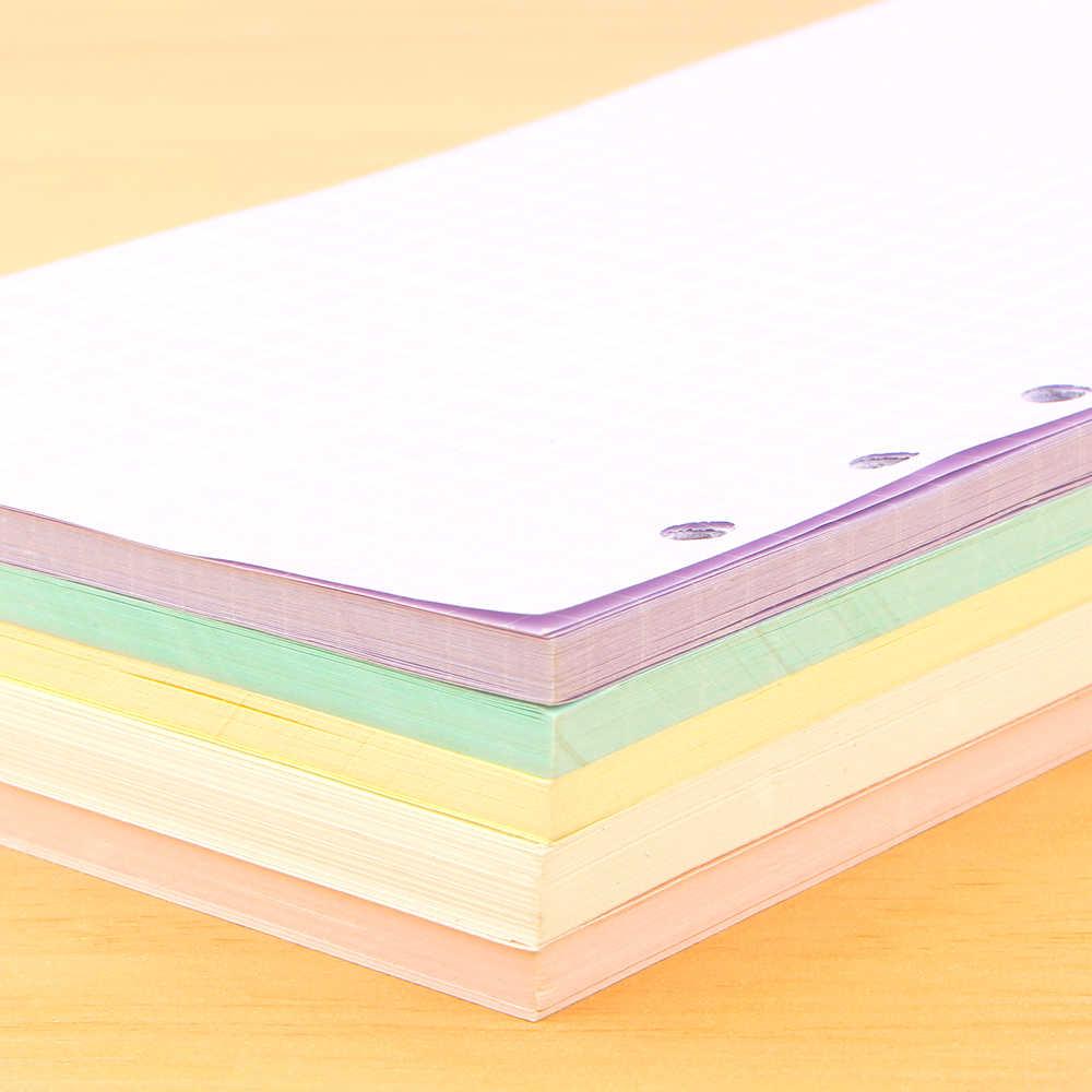 A5 A6 page de couleur Original plus récent à l'intérieur des Pages planificateur feuilles de remplissage feuilles mobiles cahier accessoires étudiant papeterie