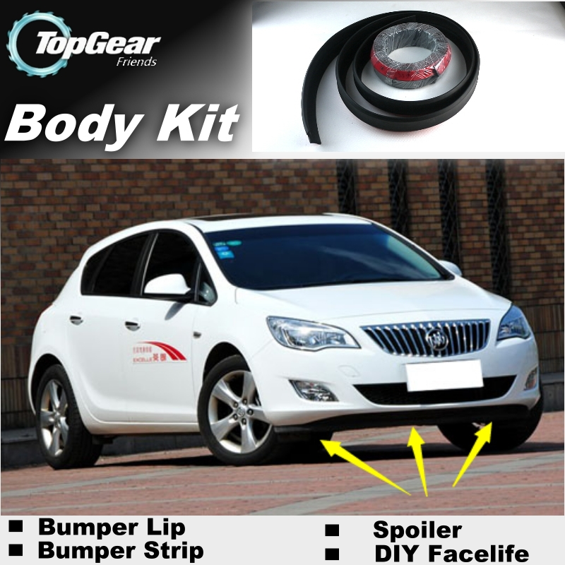 Bumper Lip Lips For Opel Astra J 2009~2015 / Top Gear Shop Spoiler For Car Tuning / TOPGEAR Recommend Body Kit + Strip