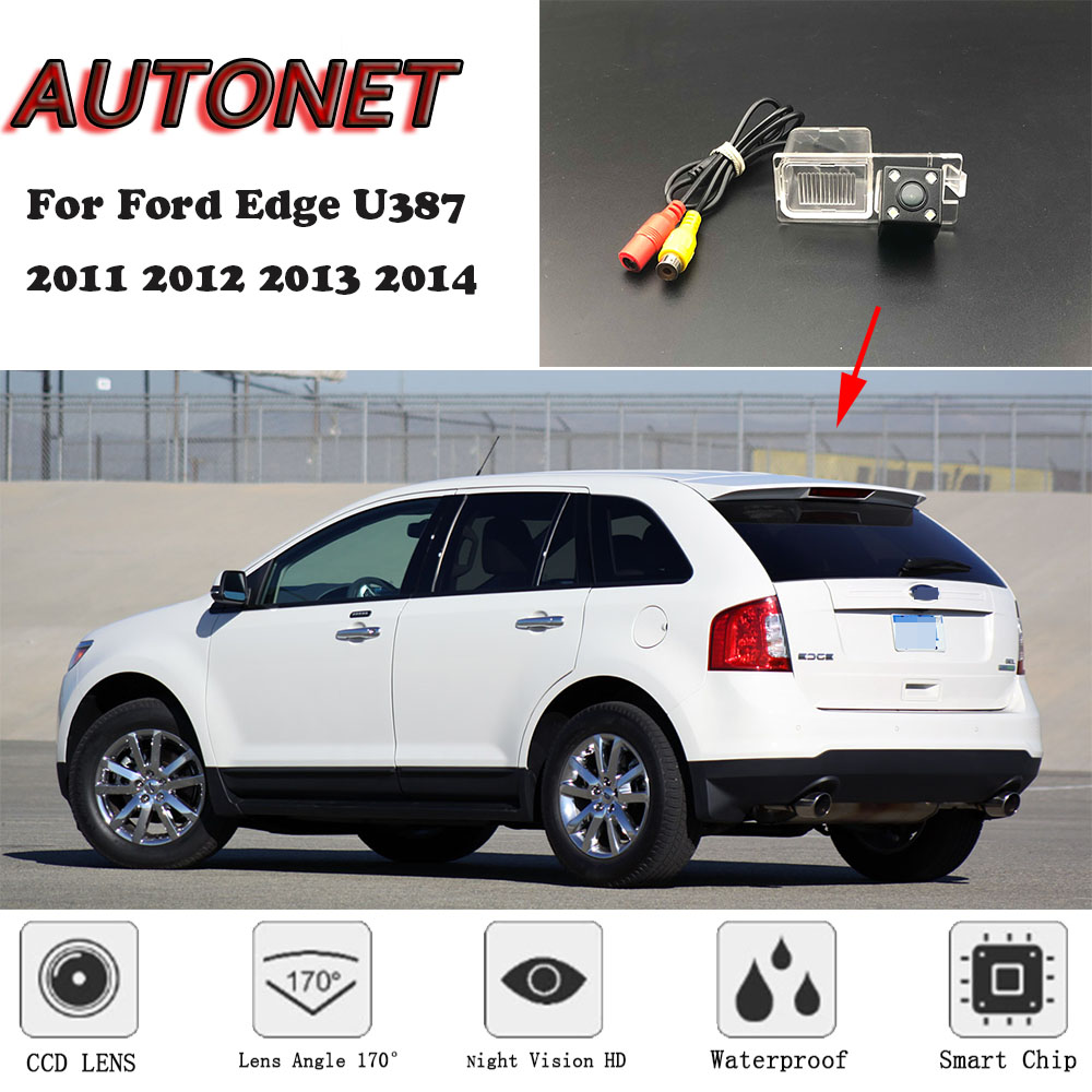 AUTONET Backup Rear View Camera For Ford Edge U387 2011 2012 2013 2014 Night Vision Parking Camera /license Plate Camera