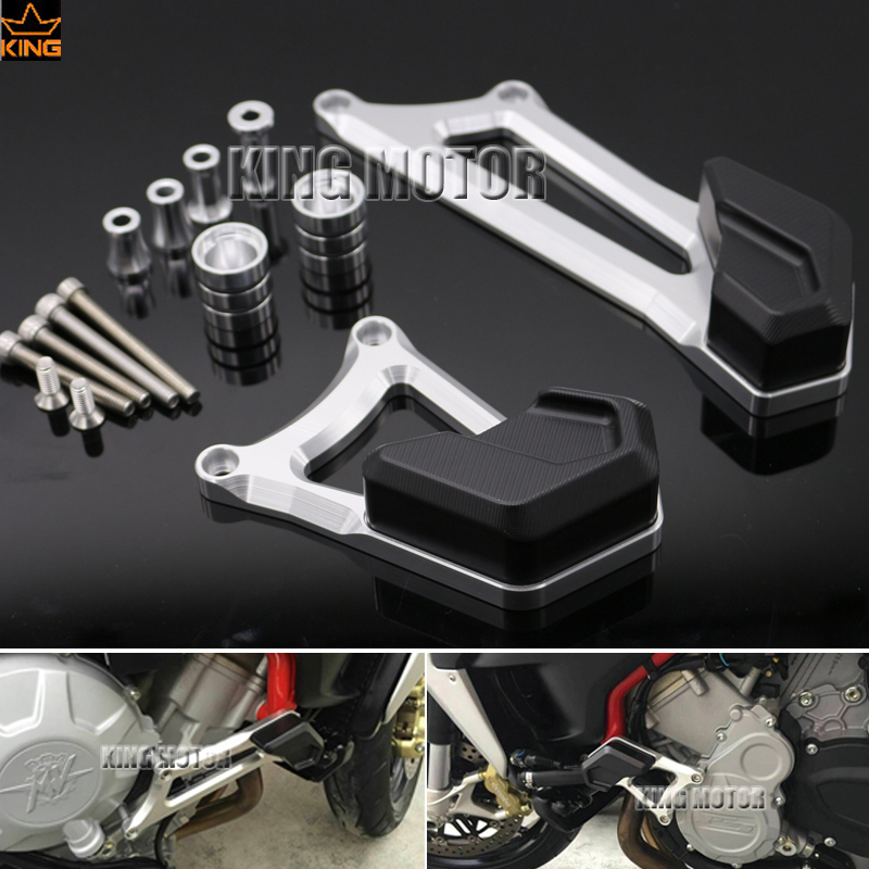 For MV Agusta Brutale 675 800/RR/Dragster Motorcycle Accessories Left Right Engine Case Guard Cover Frame Slider Crash Protector motorcycles engine cover protection case for mv agusta f3 brutale 675 800 2013 2014 2015 2016