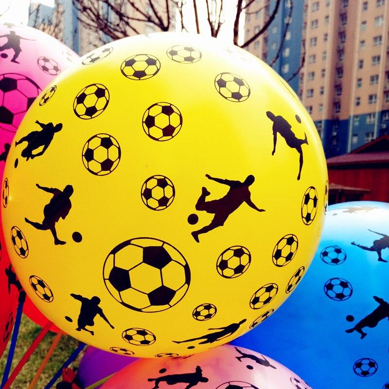 Free Shipping 100 Pcs/Lot  Football printing machines toys Latex Balloons Globos Birthday Party Supplies Balloon