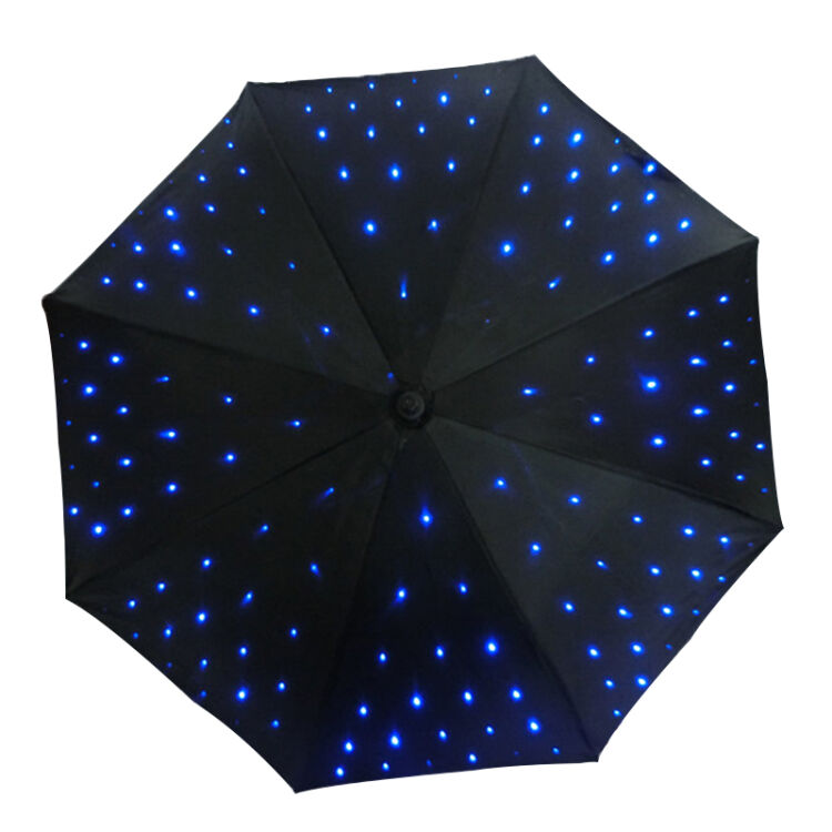 Supply led light uv umbrella with flashlight function for Decor umbrellas