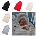 0-12 M Bebê Envoltório Swaddle Envelope Para Recém-nascidos Crianças Da Criança de Malha de Lã Cobertor Infantil Saco de Dormir saco de Dormir carrinho de criança Envoltório