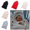 0-12M Baby Wrap Swaddle Envelope For Newborn Kids Toddler Wool Knit Blanket Infant Sleeping Bag Sleep Sack Stroller Wrap