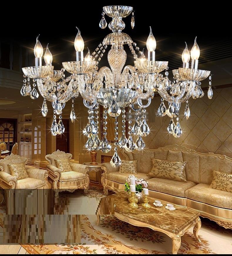 Crystal Home Lighting Indoor Lamp Room Chandeliers Modern crystal Light Chandelier Luxury Cognac color Top K9 Crystal 6-8 Arm