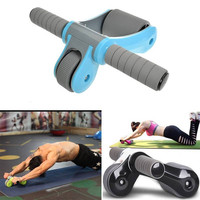Fitness Gym Folding Power Roller Massager Abdominal Dual Bearing Wheels Muscle Training Equipment Health Care Tool