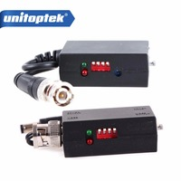 A Pair 1200m 1CH Active Twisted Pair Transmitter Receiver Video Balun