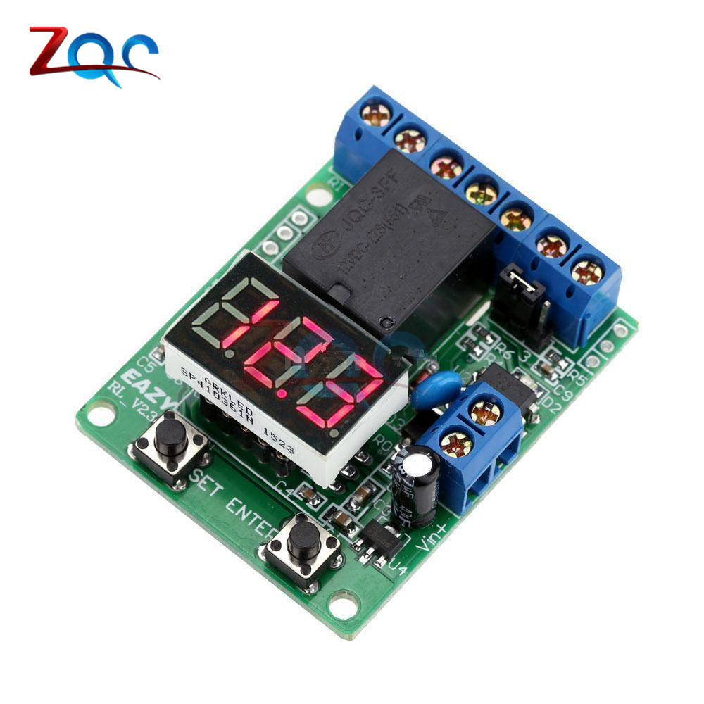 DC 12V LED Digital Relay Switch Control Board Module Relay Module Voltage Protection Detection Charging Discharge Monitor Test 12v led display digital programmable timer timing relay switch module stable performance self lock board