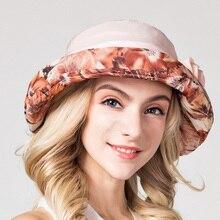 Charles Perra Sun Hat Female Summer New Fashion Casual Sunscreen Visor Hats Elegant  Women Beach Caps Large Brim 5003