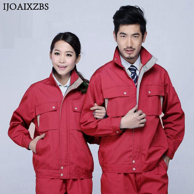 Work Overalls Men Women Protective Safety Coverall Repairman Set Strap Trousers Working Uniforms Plus Size Long Sleeve Coveralls plus size bell sleeve plunge tee