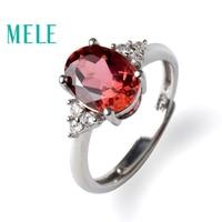 Природный красный турмалин 925 Серебряные кольца для женщин, мм 7X9 мм овальной огранки драгоценных камней классические модные украшения, best п