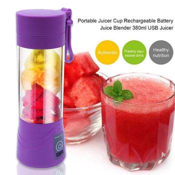380ml usb rechargeable mini juicer and portable blender mixer and personal smoothie maker