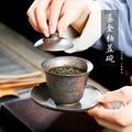 セラミック茶チュリーン細かい手作りゴールドメッキ鉄の釉薬石器大茶ボウル茶カップ緑茶烏龍茶茶器