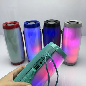Image 5 - 10W Wireless Bluetooth Speaker with Colorful LED Light Outdoor Portable Column FM Radio TF with Mic Hands Free for Computer 2.1