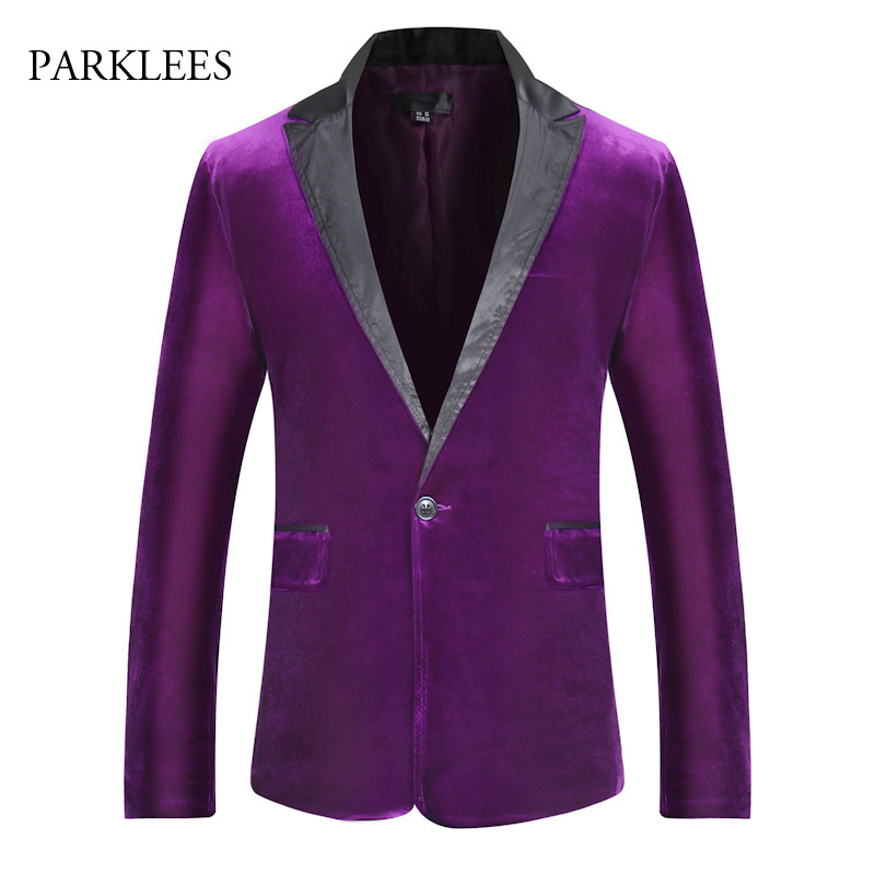 Mens Shiny Flannel Suit Jacket Stage Performance Wedding Costumes Casual One Button Patchwork Blazer Jacket Men Jaquetas Homens