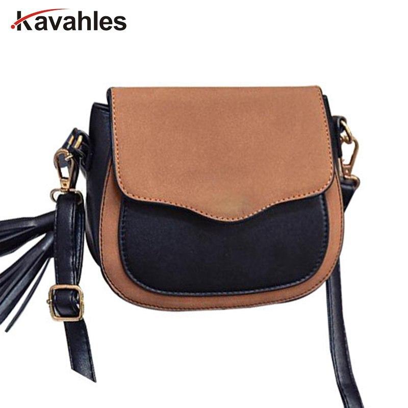 2018 new trend women handbags, retro simple flap, fashion shoulder bag, tassel ornaments woman messenger bag PP-1062
