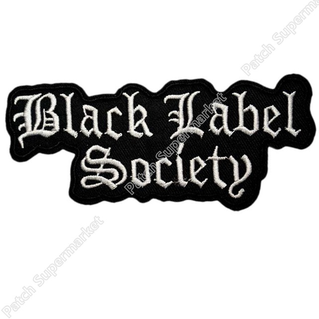 online shop 4 7 black label society music band logo embroidered new rh m aliexpress com Glam Metal Band Logos Rock and Metal Band Logos