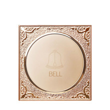 Champagne gold round 86 wall electronic doorbell switch reset spring normally open home hotel