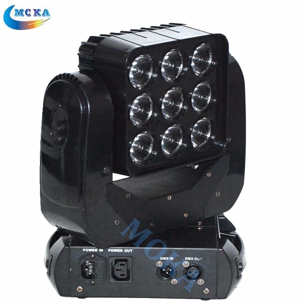 4pcs/lot wholesale DMX Stage Lighting RGBW LED Matrix 9*10W Moving Head Light for theatre TV studio Disco Nightclub