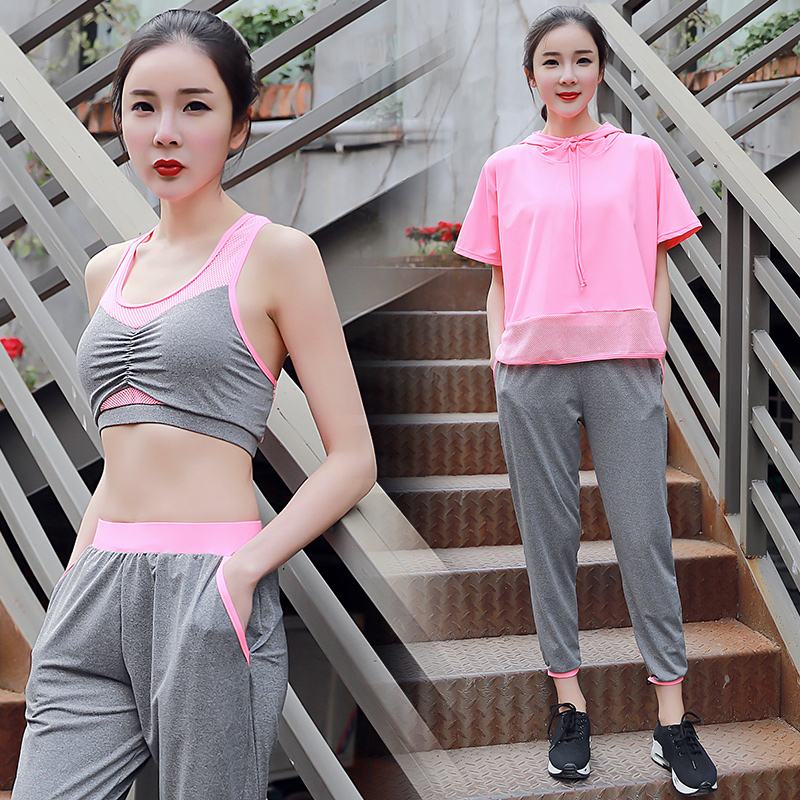 2017 Sale Yoga Set 3 Colors Mesh Sport Suit Women Fitness Jogging Suit Yoga Pants Breathable Exercise Leggings Outdoor Plus Size - 4
