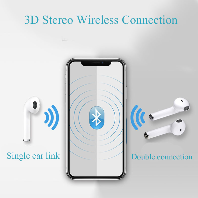 i7s tws wireless bluetooth earphones for sports with microphone for smartphones