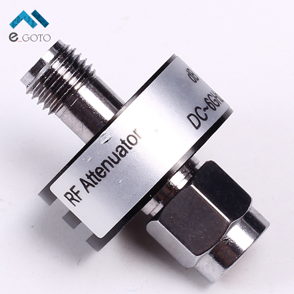 30dB SMA Coaxial Fixed Attenuator 5W DC-6GHz 50 ohm SMA-J/SMA-K 18x26mm for Attenuation Measurement