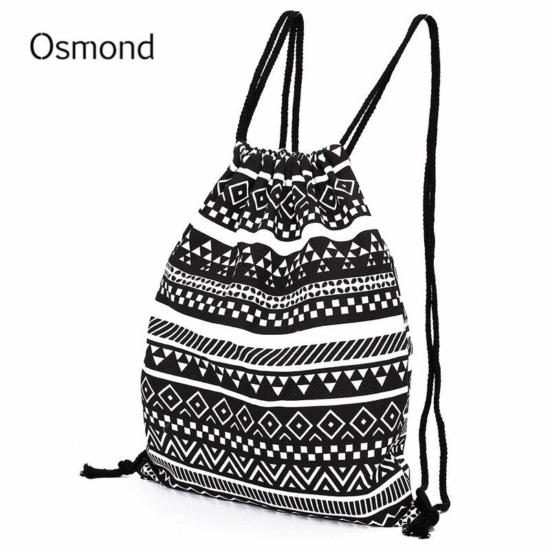 Osmond Backpack Women National Canvas Backpacks For Teenage Girls Drawstring Bag School Backpack College Bag Backpack Sack Bags