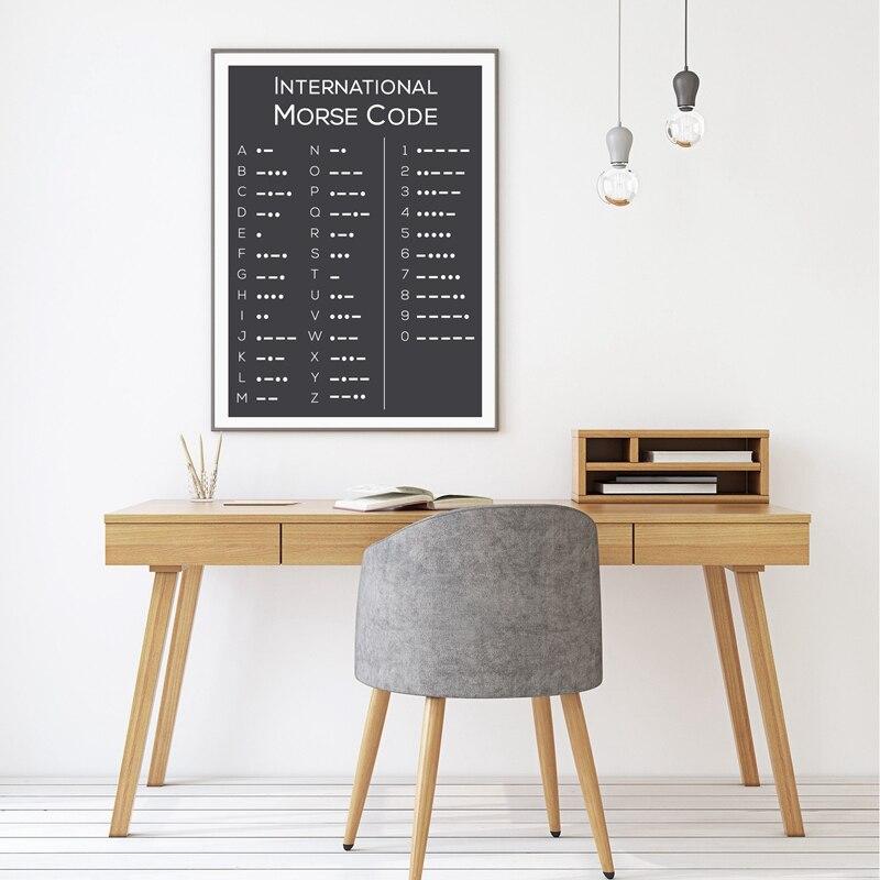 Morse Code Wall Art Print Office Decor