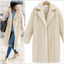 2016 Women Casual Slim Long Cashmere Overcoats Tops Woolen Coat Female Warm Wool Long Sleeve Overcoat