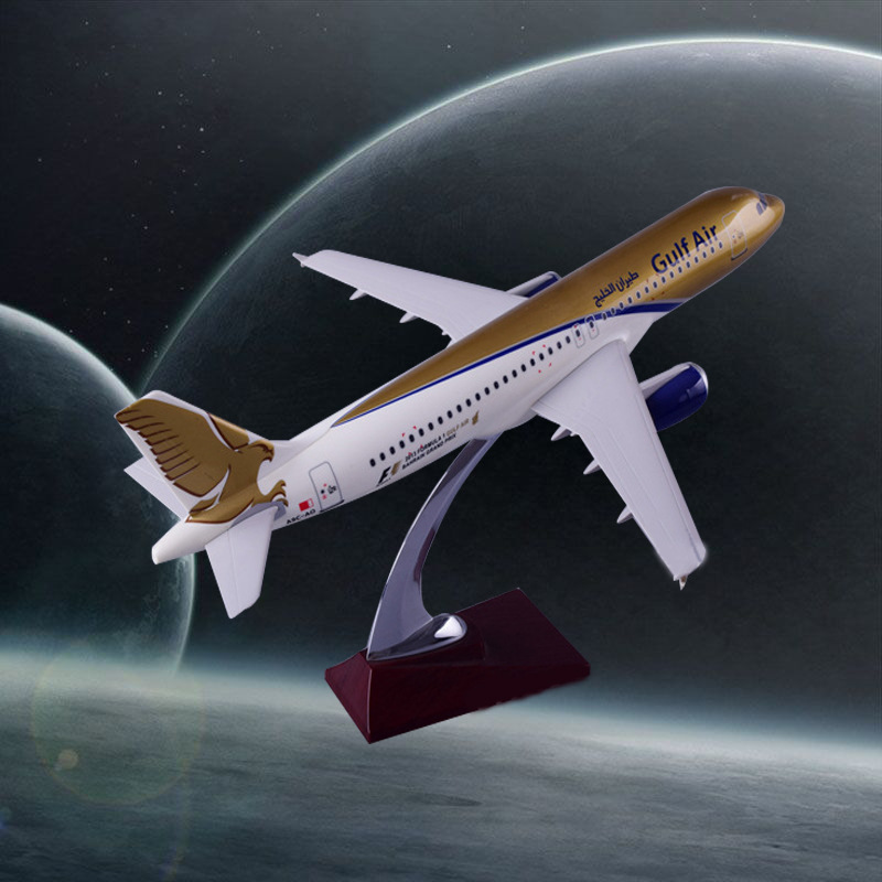 37cm Resin Gulf Air Aircraft Model A320 Airplane Airbus Model International Gulf Airlines Plane Model Airways Stand Craft Model phoenix 10948 china southern airlines b 2134 1 400 md 82 commercial jetliners plane model hobby