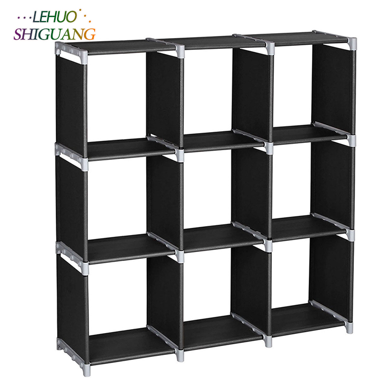 3 Tiers 9 Compartments Storage Shelf Non-woven fabric Bookshelf organizer storage cabinet bookcase home living room Furniture 12 grid diy assemble folding cloth non woven shoe cabinet furniture storage home shelf for living room doorway shoe rack