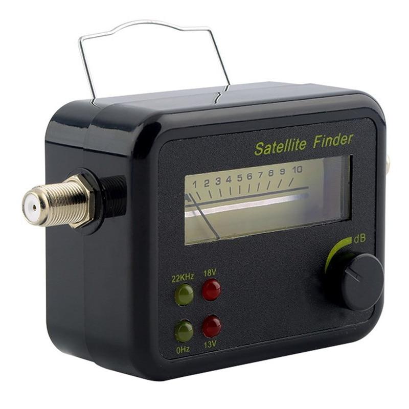 NOVO Plástico Preto Mini Display LCD Digital Signal Satellite Finder Medidor Tester Com Excelente Sensibilidade do Receptor de TV Via Satélite