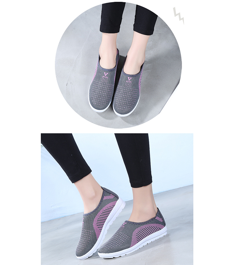 Mesh women sneakers Breathable Slip On casual shoes women fashion comfortable Summer Flat Vulcanize Shoes Zapatos Mujer VT248 (8)