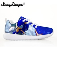 Noisydesigns Children's Shoes Sneakers for Children Boys Girl Cute Sonic the Hedgehog Kids Casual Flats Breath Lace up Shoes Hot