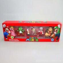 """100 компл./лот Super Mario bros фигурку переключения режима переключения l игрушки """" фигурки серии 3,6 пакеты в цветной коробке по EMS"""