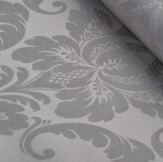 vintage elegant embossed glitter bedroom wallpaper gray