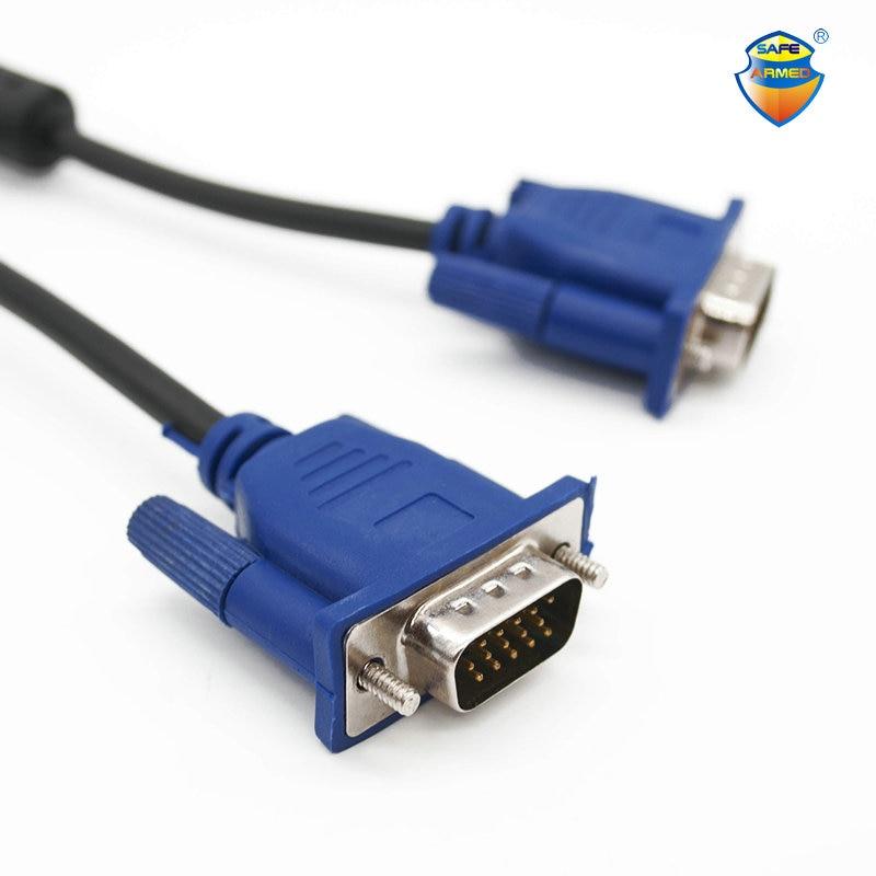 Бесплатная доставка 1,5 м VGA кабель с HDB15 штекер к HDB15 штекер разъем для ПК