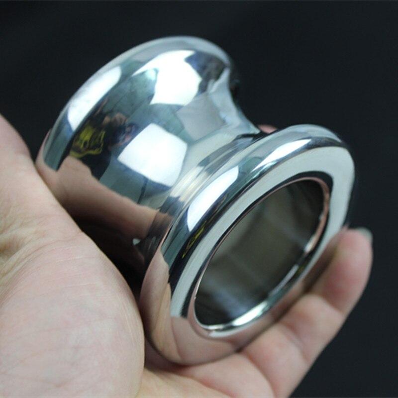 L'anus dilatateur en acier inoxydable boule creuse anneau Anal Plug Anal jouets sexuels jouet adulte jeu 4 taille pour le choix H8-35